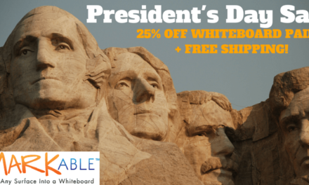 President's Day Sale. 25% Off + Free Shipping on Whiteboard Paint!