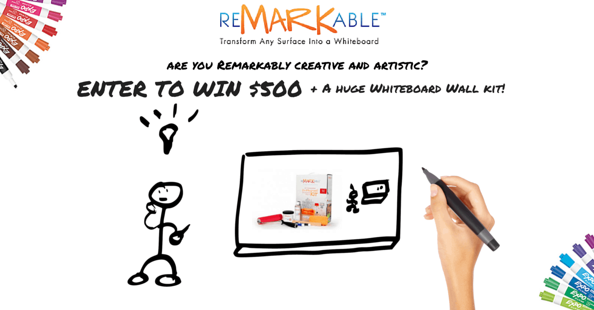 Win $500 and a 200 Square Foot Whiteboard Wall in the ReMARKable Whiteboard Doodle Art Contest!