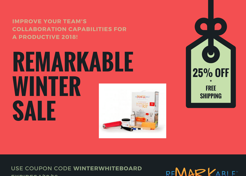 ReMARKable's Winter Sale is Here! [25% Off + Free Shipping]