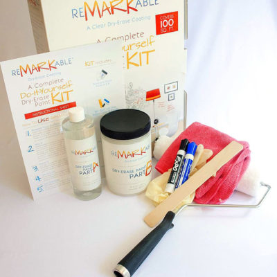 6 Pack of Dry Erase Paint and Coating System Clear - 100 Square Foot Kits