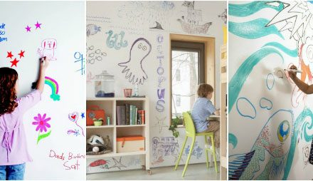 Entertaining the Family at Home Using a Whiteboard Painted Wall