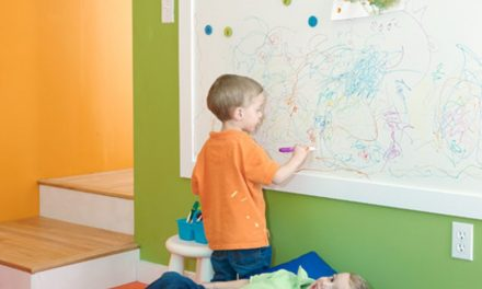 Tips on Learning From Home with a Whiteboard Painted Wall