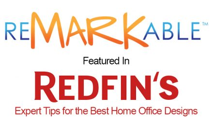 """Remarkable featured in Redfin's """"Expert Tips for the Best Home Office Designs"""""""